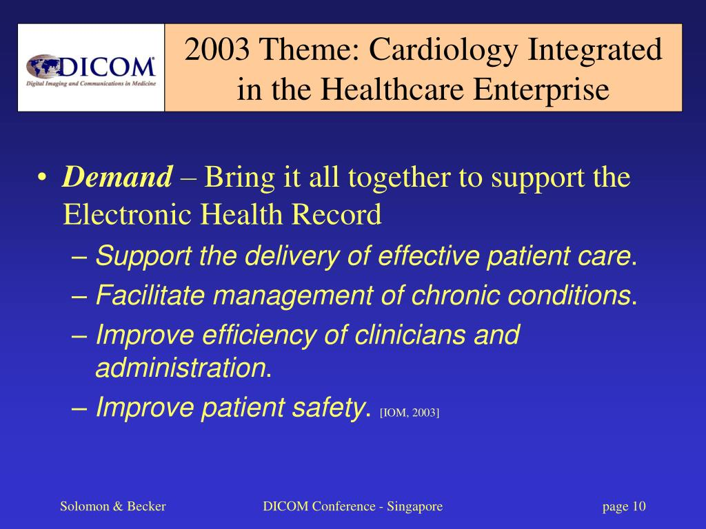 2003 Theme: Cardiology Integrated in the Healthcare Enterprise