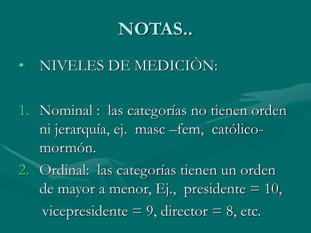 NOTAS..