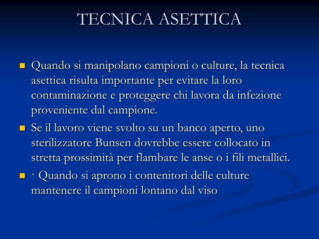 TECNICA ASETTICA