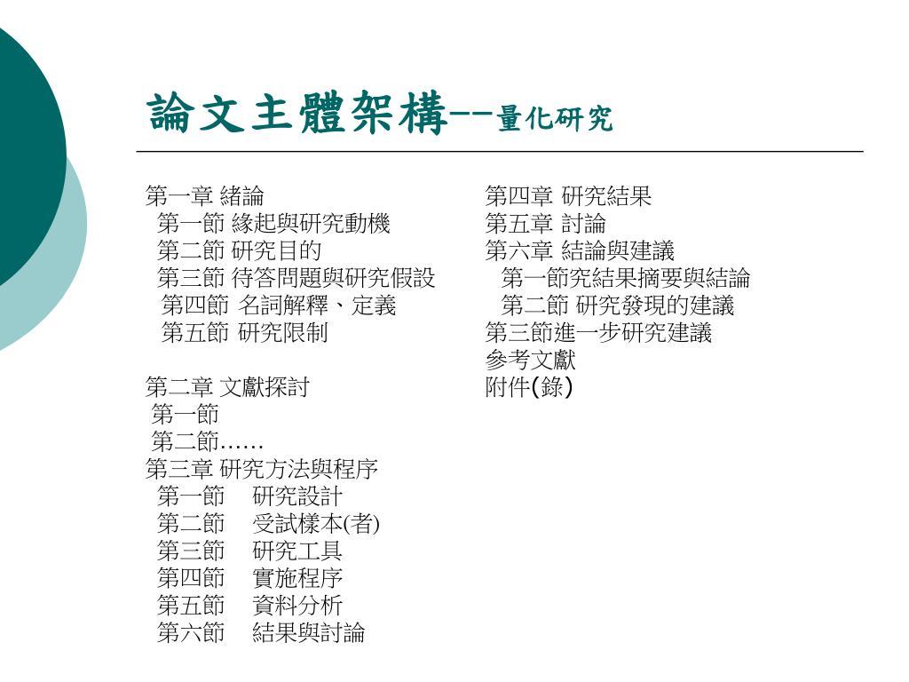 論文主體架構