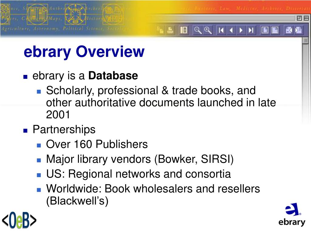 ebrary Overview