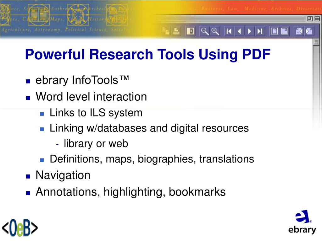 Powerful Research Tools Using PDF