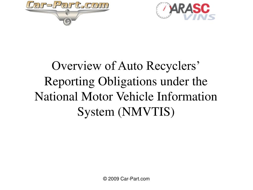 Overview of Auto Recyclers'