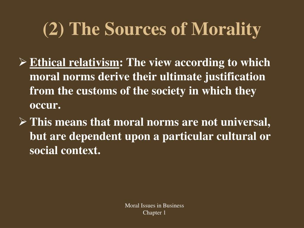 normative moral thesis