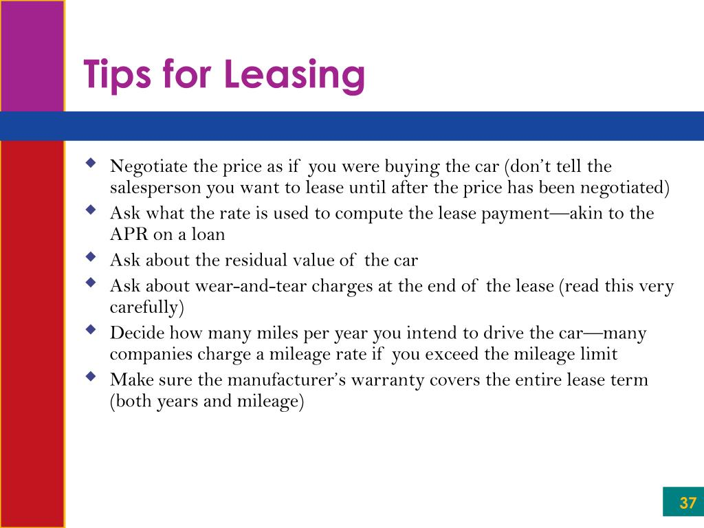 Tips for Leasing