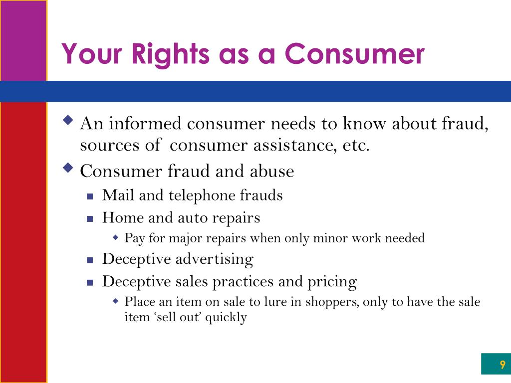 Your Rights as a Consumer