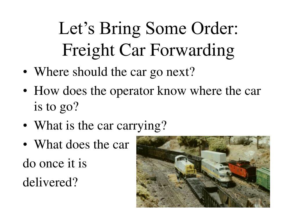 Let's Bring Some Order: