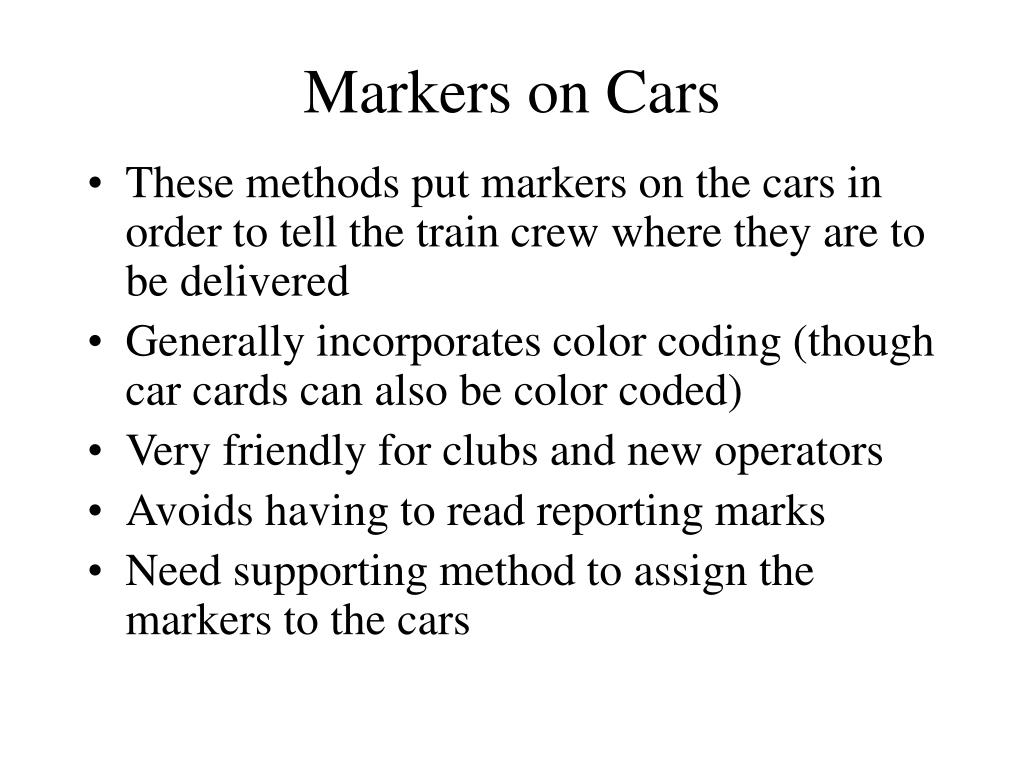 Markers on Cars