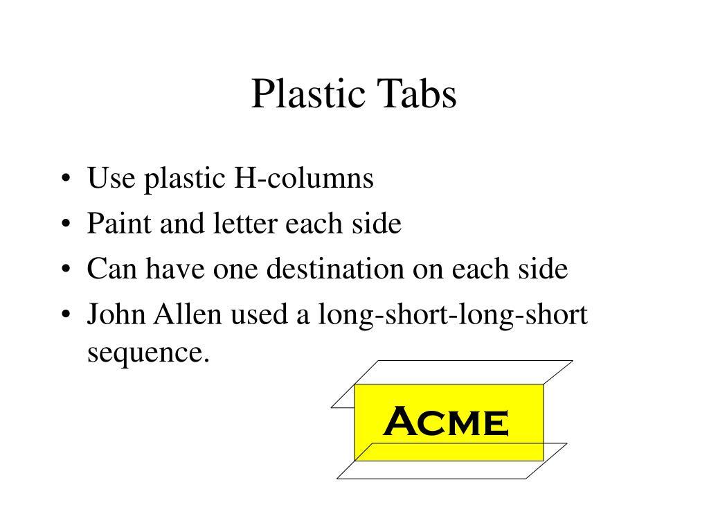 Plastic Tabs