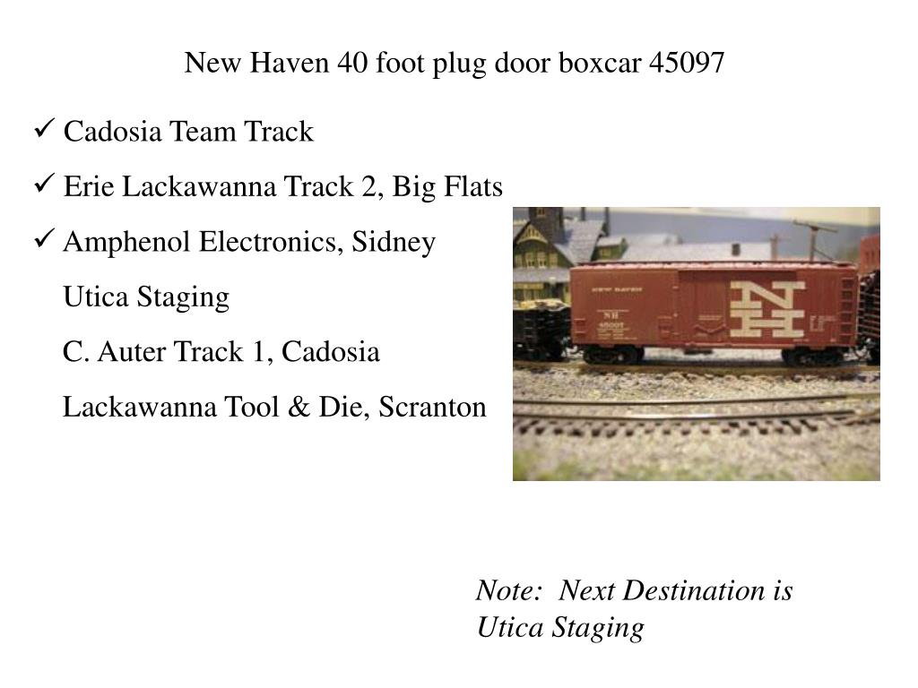 New Haven 40 foot plug door boxcar 45097