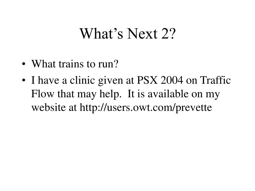 What's Next 2?