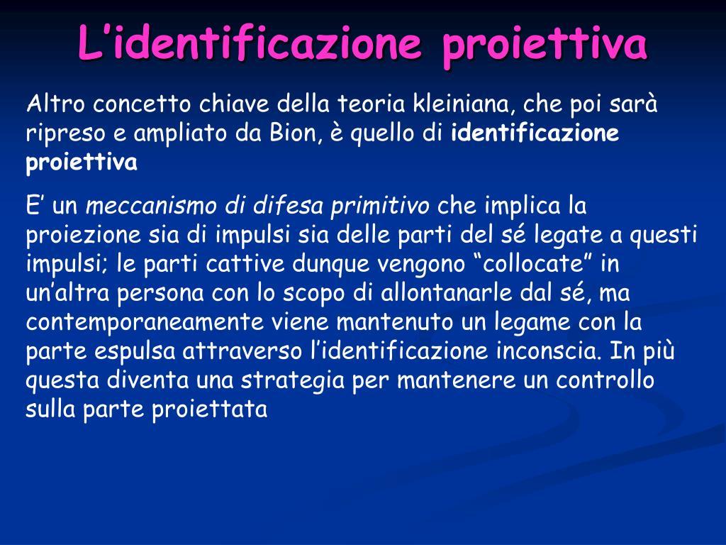L'identificazione proiettiva
