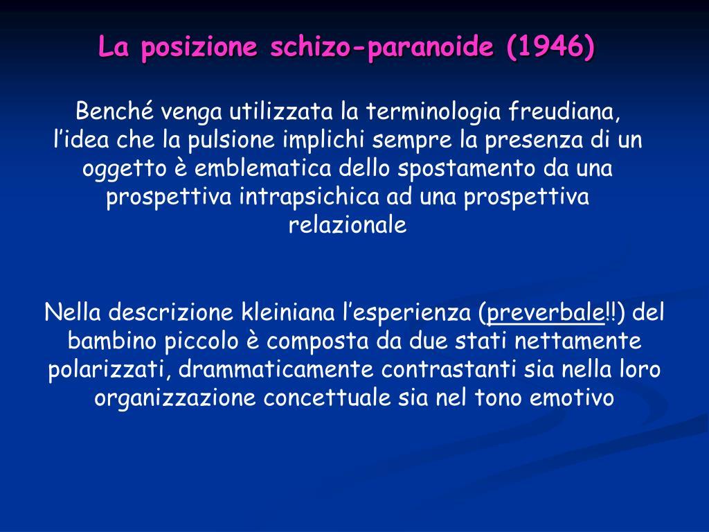 La posizione schizo-paranoide (1946)