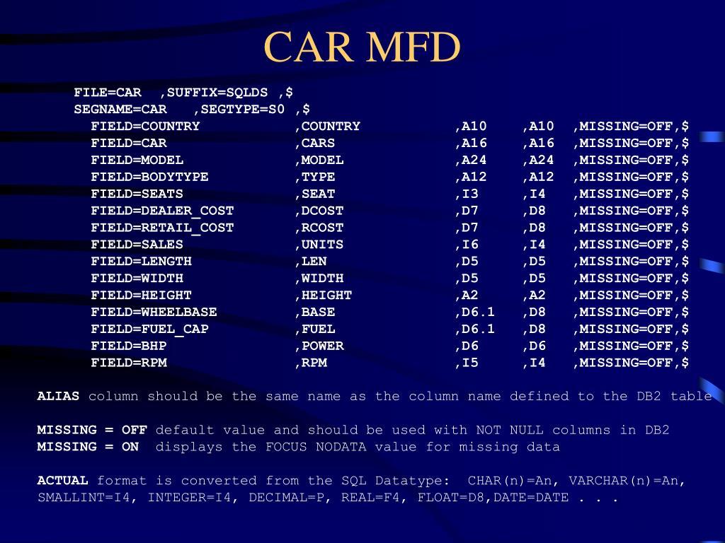 CAR MFD