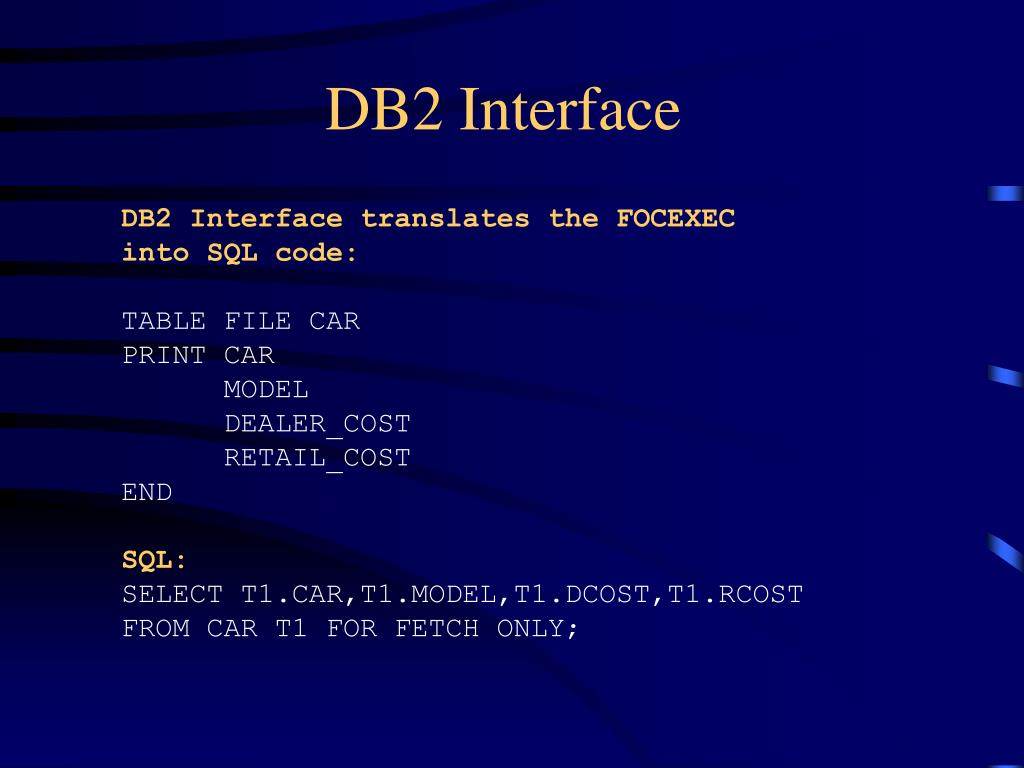 DB2 Interface