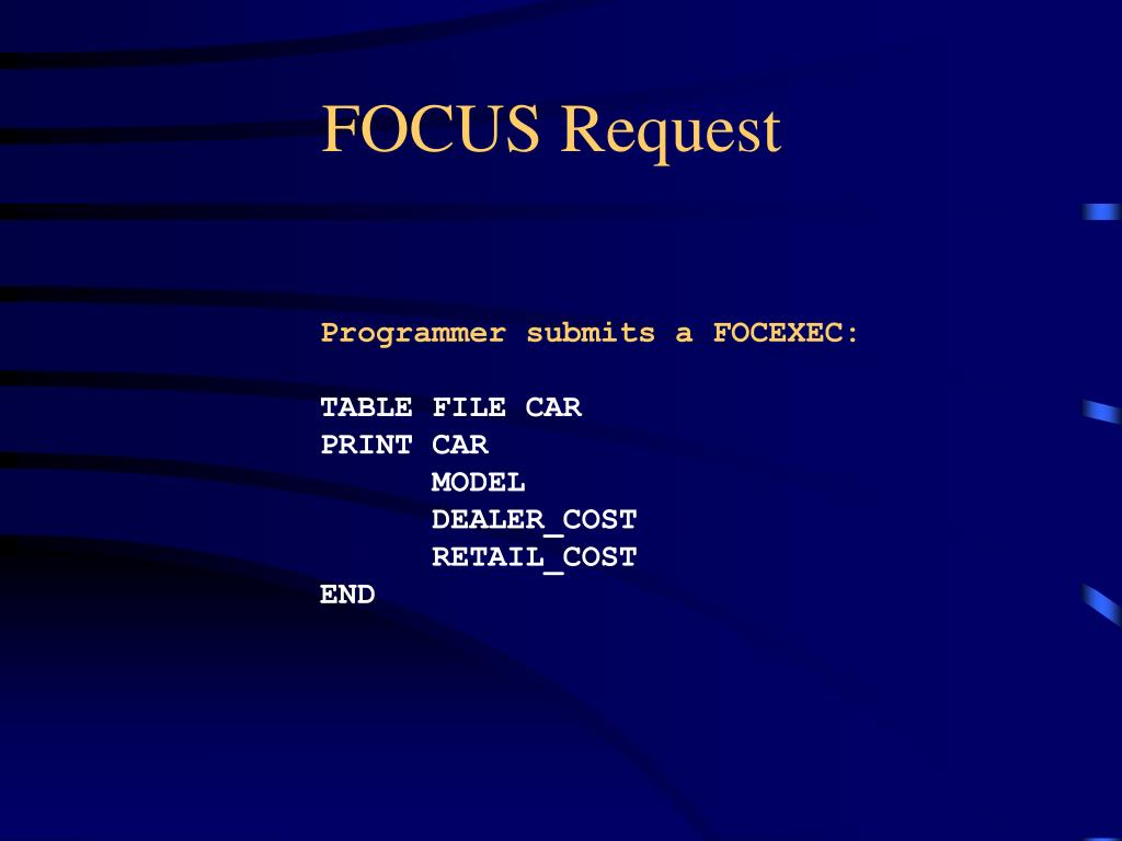 FOCUS Request