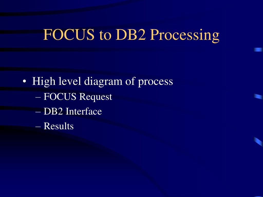 FOCUS to DB2 Processing