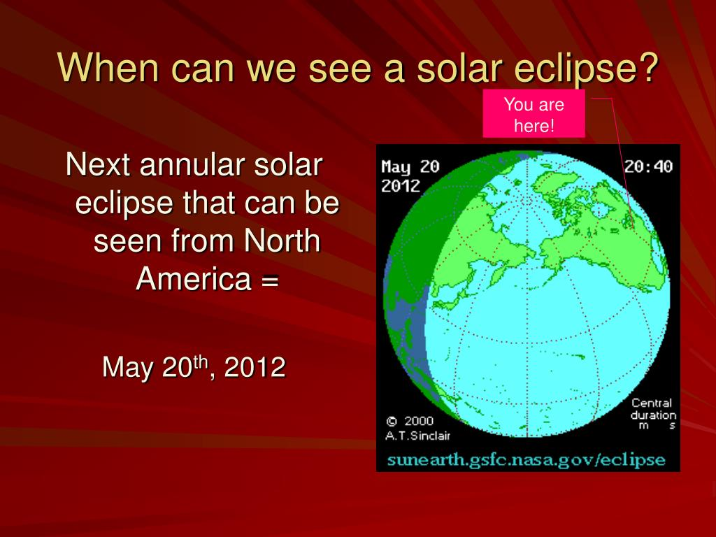 When can we see a solar eclipse?