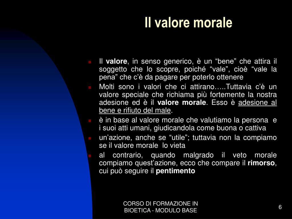 Il valore morale