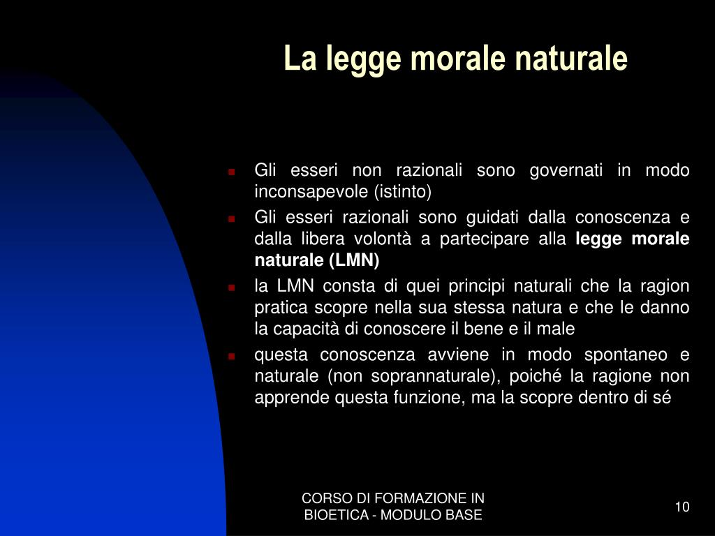 La legge morale naturale