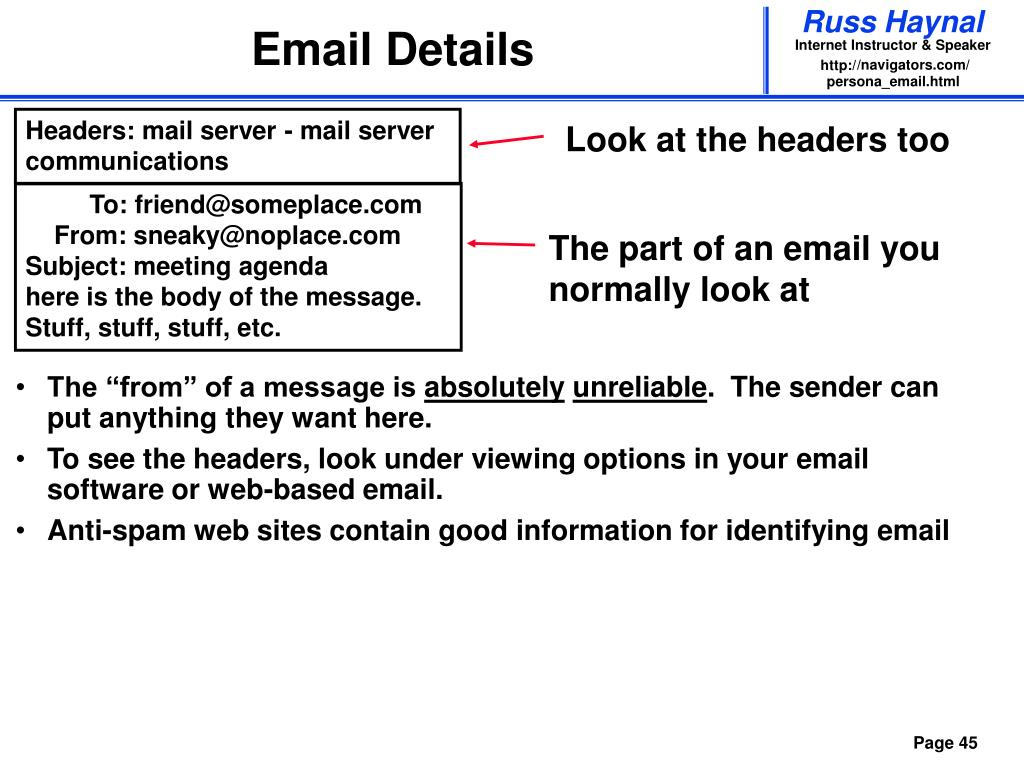 Email Details
