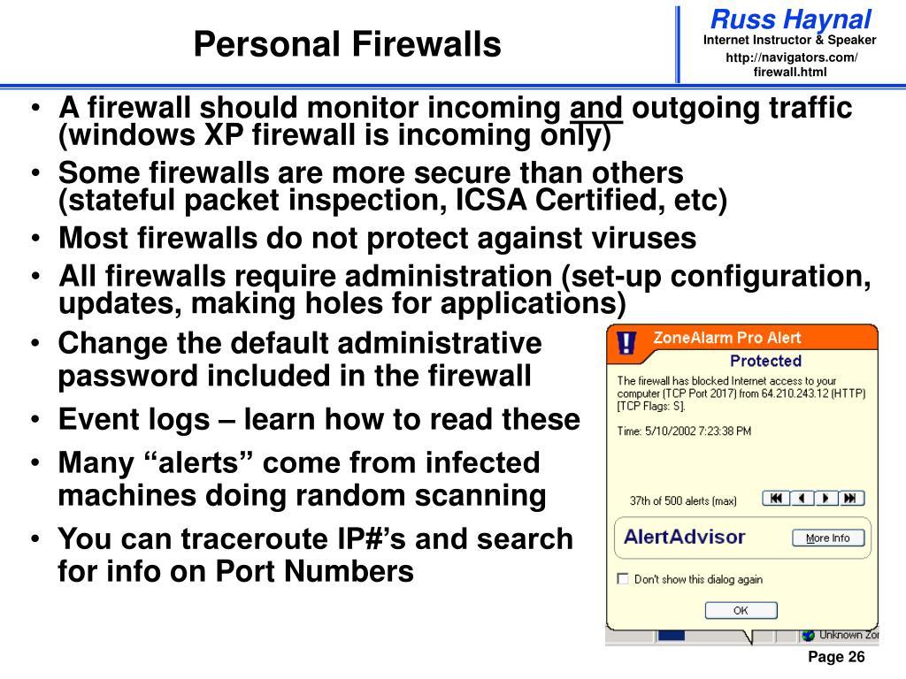 Personal Firewalls