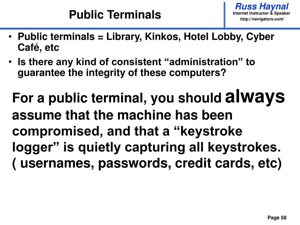 Public Terminals