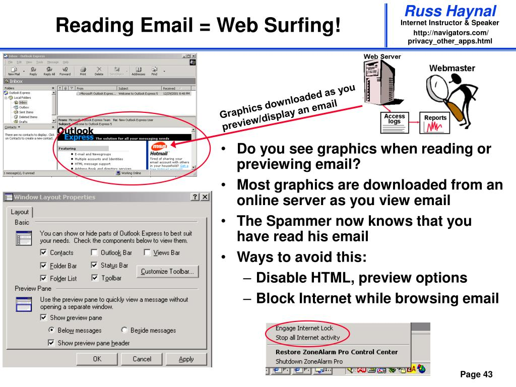 Reading Email = Web Surfing!