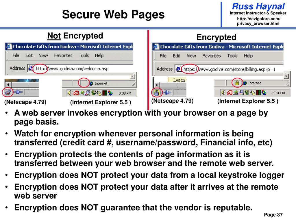 Secure Web Pages