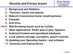 security and privacy issues30