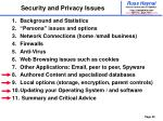 security and privacy issues49