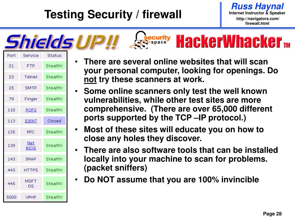Testing Security / firewall