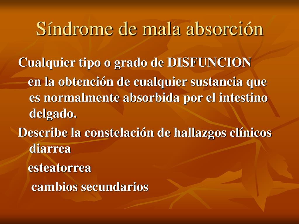 Síndrome de mala absorción