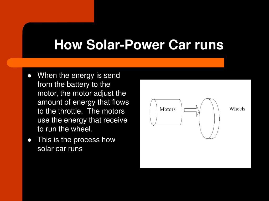 How Solar-Power Car runs