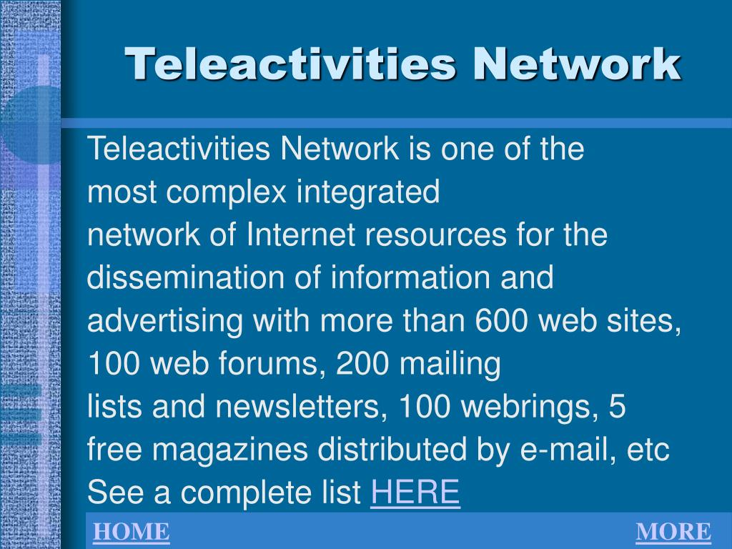 Teleactivities Network