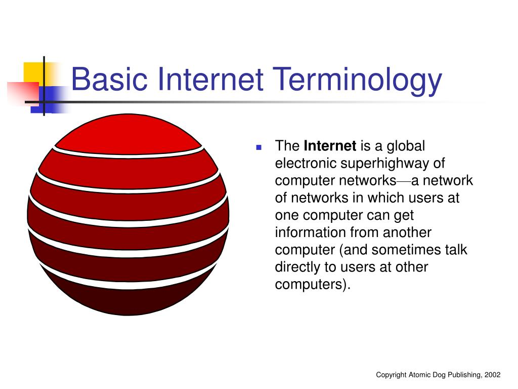 Basic Internet Terminology