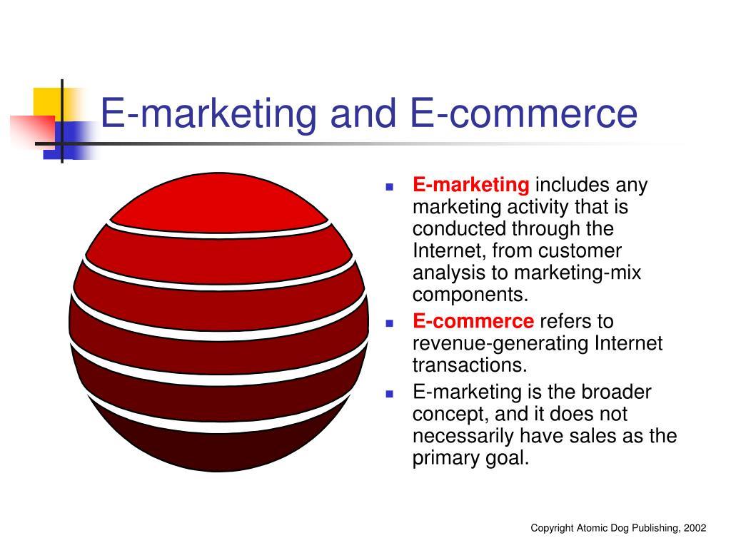 E-marketing and E-commerce