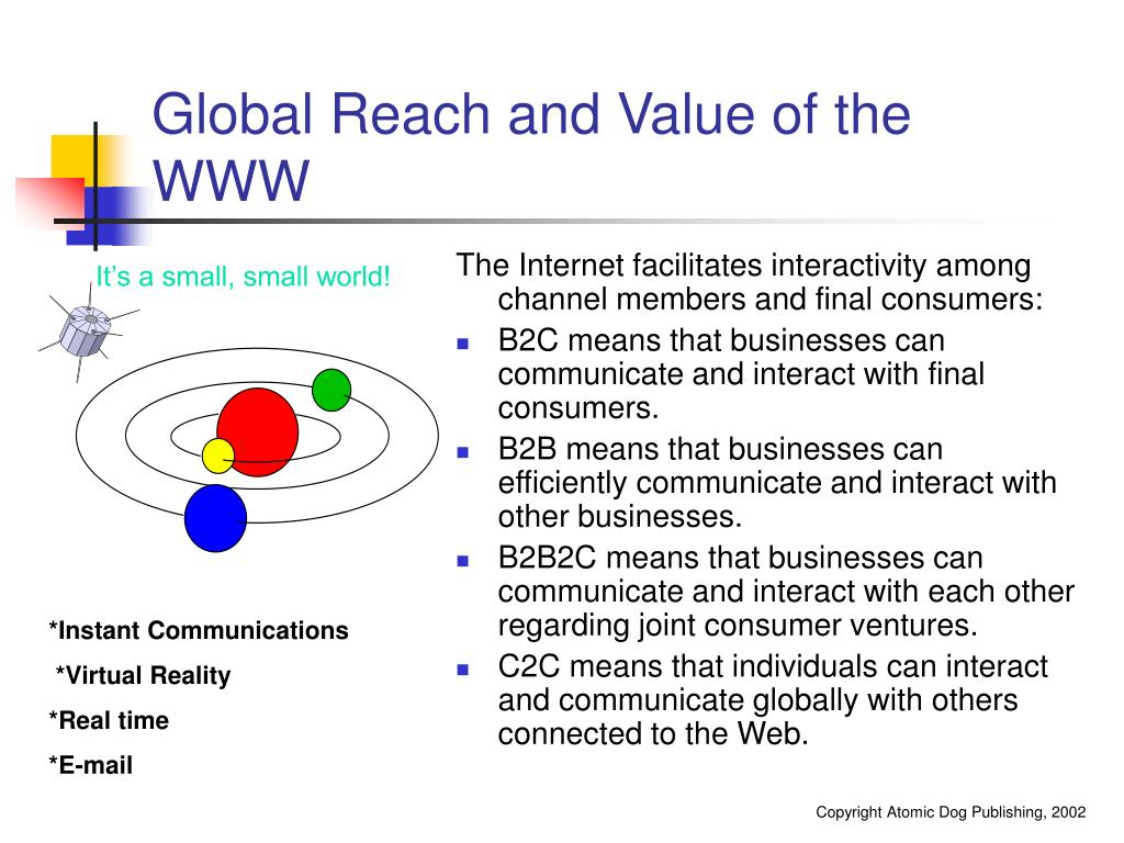 Global Reach and Value of the WWW