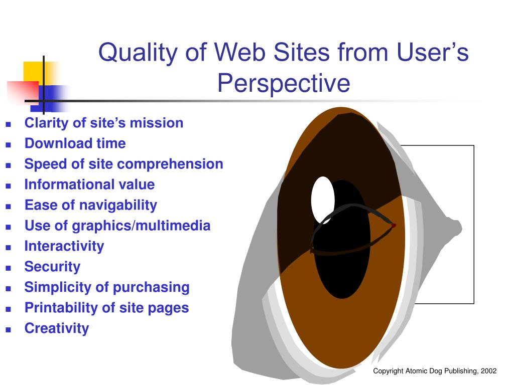 Quality of Web Sites from User's Perspective