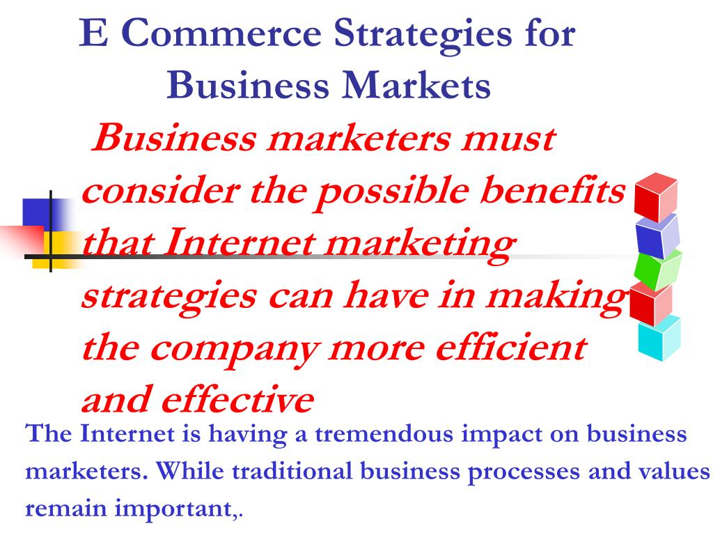 E Commerce Strategies for