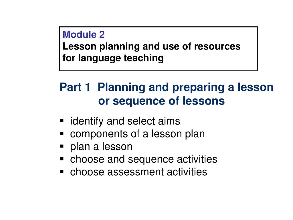 lesson planning ppt