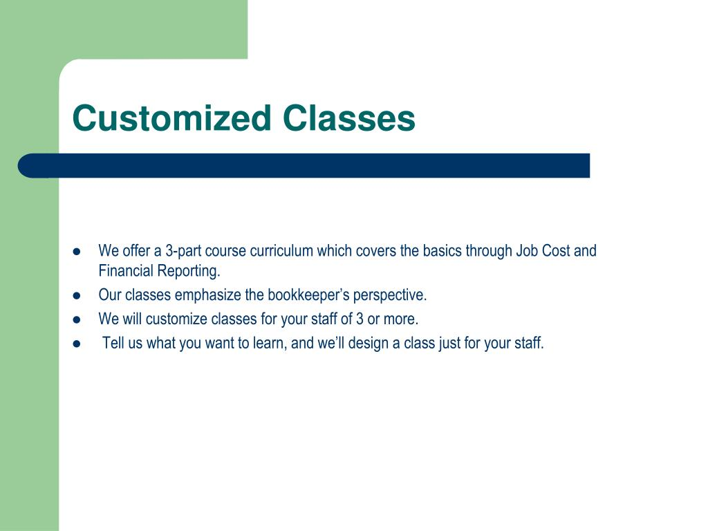 Customized Classes