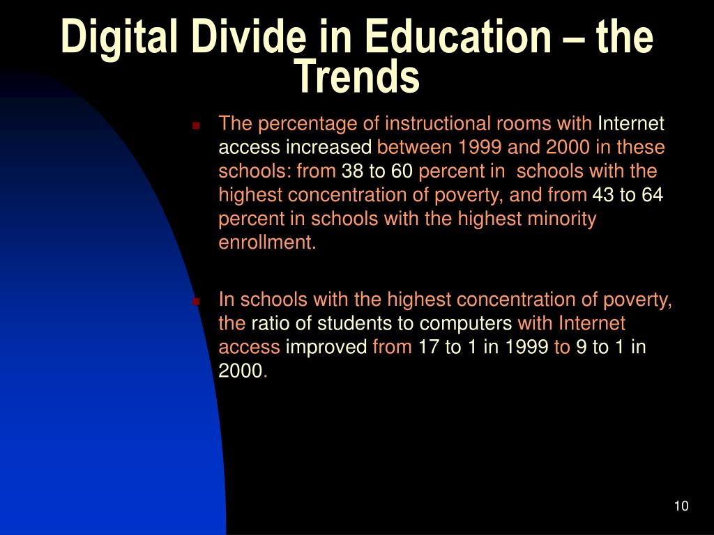 Digital Divide in Education – the Trends