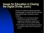 issues for education in closing the digital divide cont13