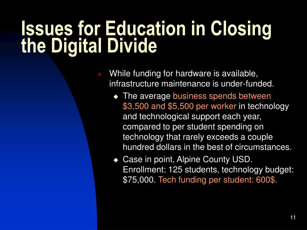Issues for Education in Closing the Digital Divide