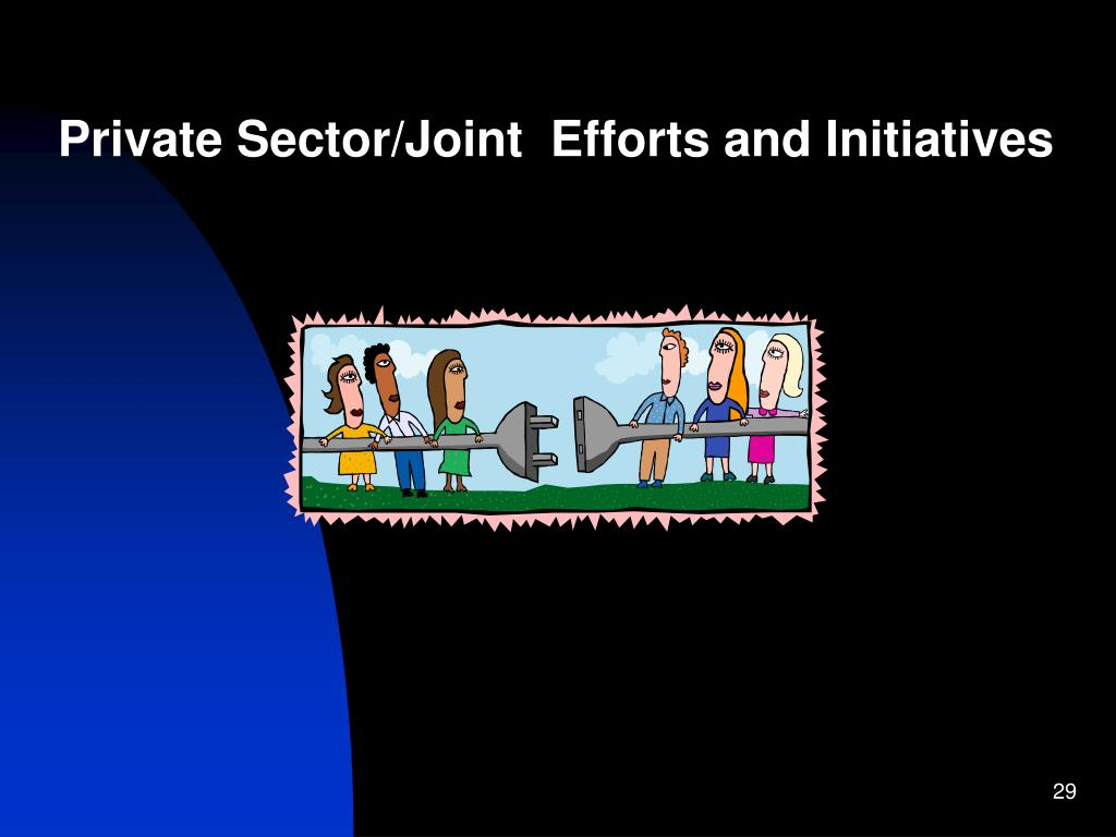 Private Sector/Joint  Efforts and Initiatives