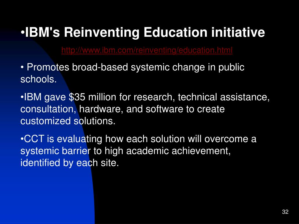 IBM's Reinventing Education initiative