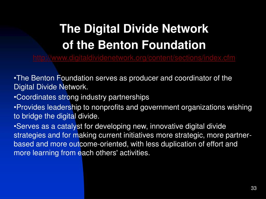 The Digital Divide Network