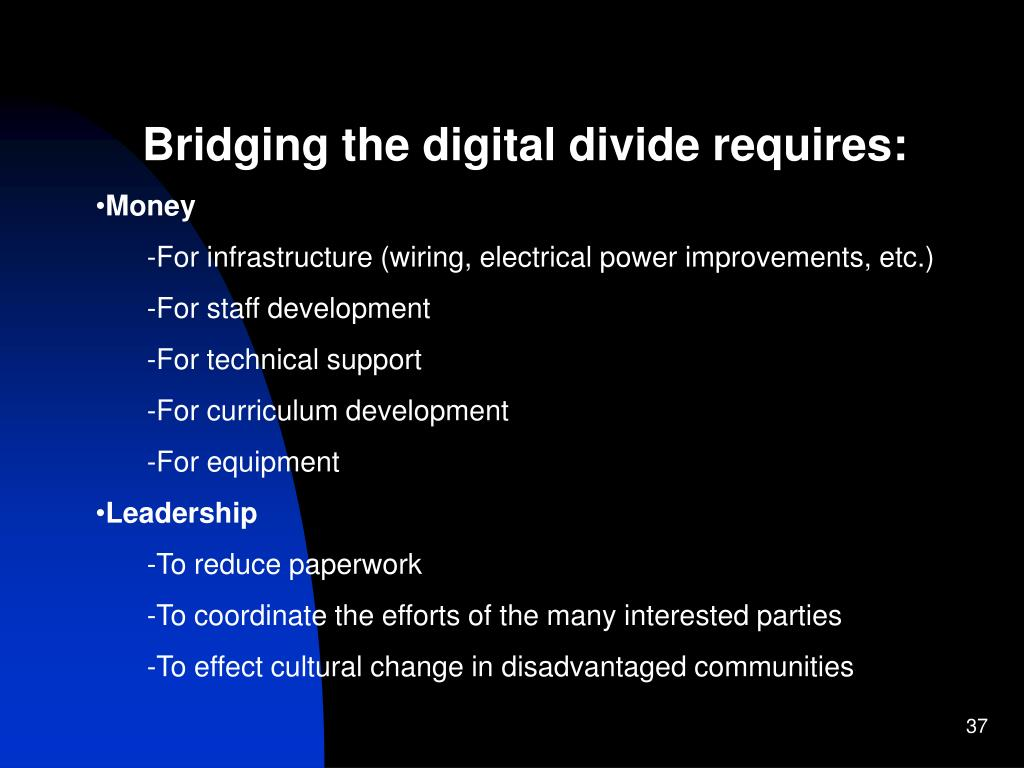 Bridging the digital divide requires: