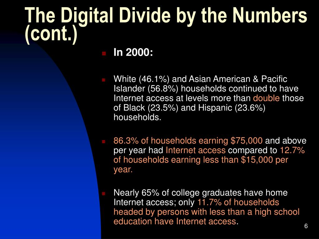 The Digital Divide by the Numbers
